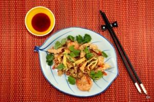 nasi goreng au poulet